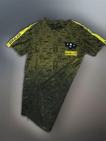Мужская футболка NEWBLACK цвет хаки