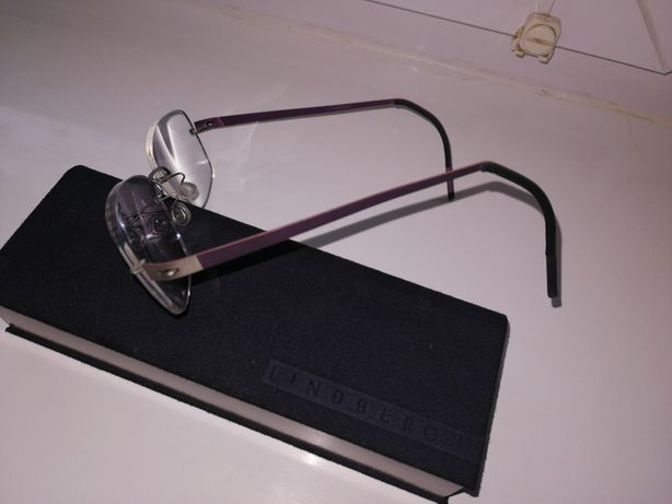 Okulary. Lindberg + Etui-Orginalne.. Korekcyjne.. Idealne..