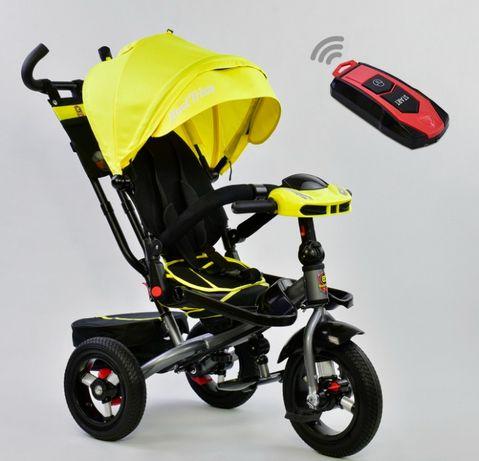 Детский трёхколёсный велосипед коляска 6088, ровер, Поворот сиденья