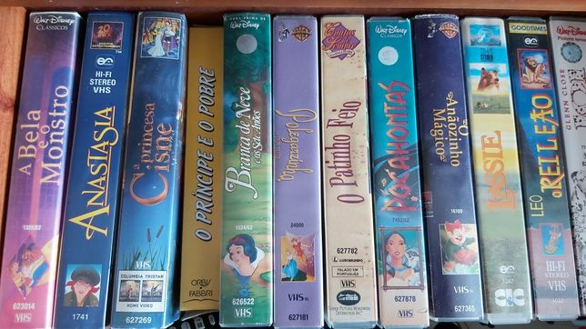 13 Cassetes VHS de vídeo
