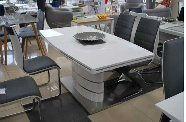Biały, lakierowany Duży Stół FANO 180/240 x 100