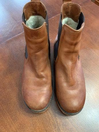 Buty skórzane zimowe Kazar damskie
