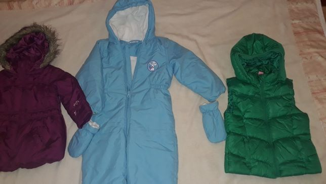 Zestaw paczka ubrań dziecięcych 98-104 kurtki i kombinezon zima 2021