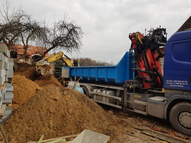 Usługi transportowe wywrotka kruszywa piasek zasypowy wywóz gruzu HDS
