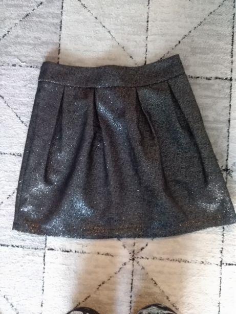 Srebrno czarna spódniczka