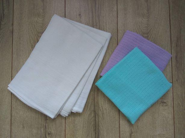 Zestaw pieluch tetrowych - białe + kolorowe