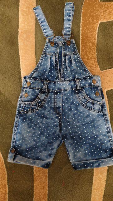 Летний джинсовый комбинезон, шорты, ромпер на девочку