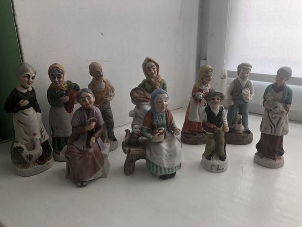 Статуэтки «сельские люди» 10 шт. США 50 е -60 е годы
