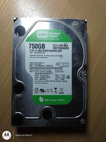 Жесткий диск WD 750Gb 64Mb (Green)