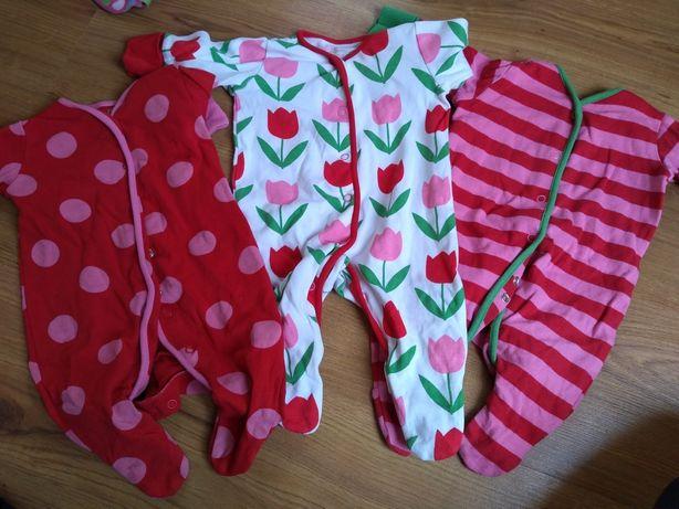 Next śliczne piżamki pajacyki dla dziewczynki 0-1 m 50 56 cm