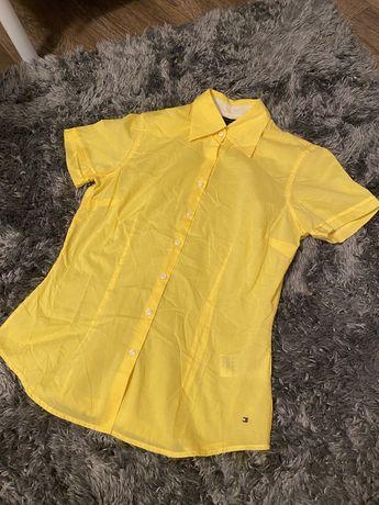 Koszula z krótkim rękawem Tommy Hilfiger żółta