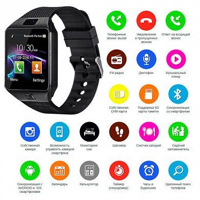 Смарт часы Smart Watch DZ09 умные часы + камера SIM card