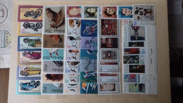 znaczki polskie zestaw samochodowy