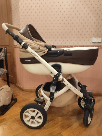 Детская коляска 2 в 1 Riko Brano ecco 12 Caramel