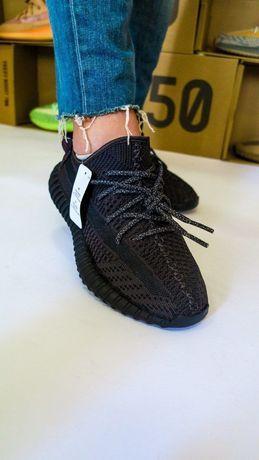 Кроссовки Adidas Yeezy Boost 350 v2 Black Адидас Изи Буст 350 чёрные