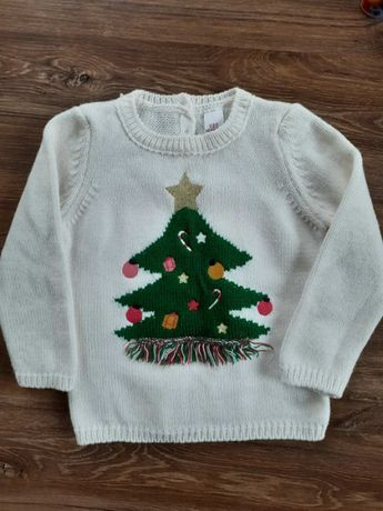свитер новогодний 86см