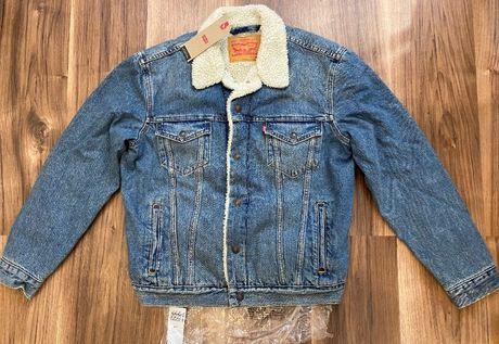 Шерпа Levi's мужская, джинсовка Levis размер М, 100% ОРИГИНАЛ.