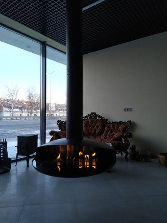 Биокамин Гефест 1000 мм. подвесной камин дизайн интерьера без дымохода