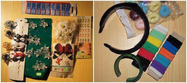 Frotki,opaska na włosy,spinki, bransoletka,ozdoby nowe nie używane