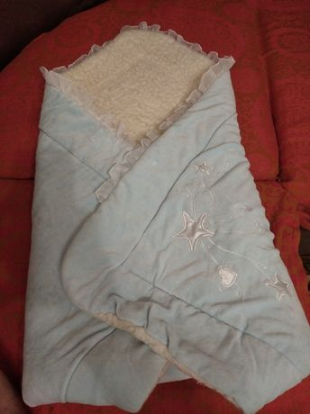 Одеяло конверт на овчине