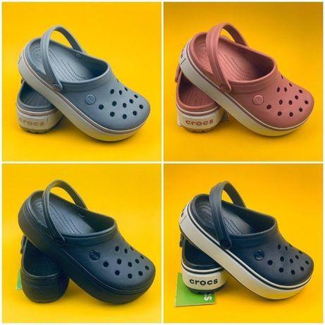 Хит лета Кроксы на платформе! Crocs Crocband Platform женские недорого