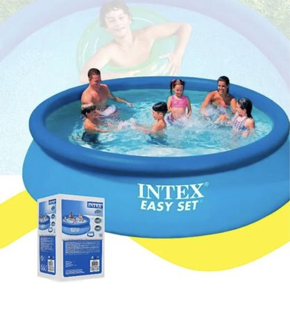 Наливной бассейн Интекс 305см-76см. Семейный\детский надувной бассейн