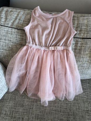 Sukienka pepco r. 98-104 różowa tiul welur
