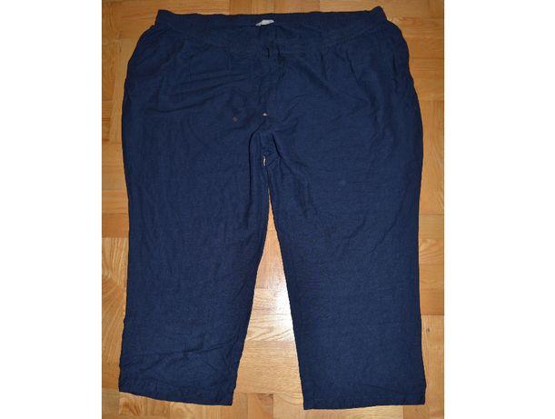 718# spodnie len wiskoza 58/60 gumka