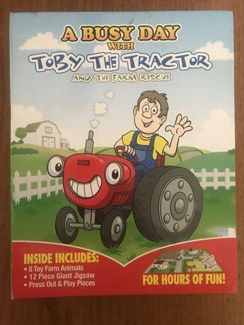 Детская книга-игра на английском Toby the tractor Read and Play