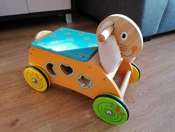 Jeździk dla dzieci sortowanie królik