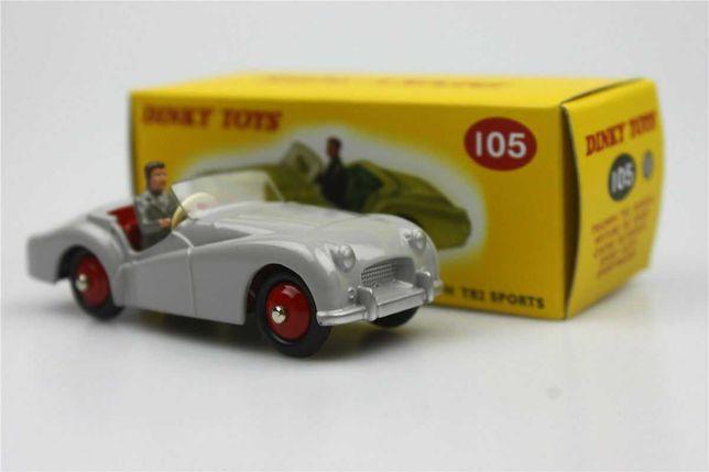 Dinky Toys Atlas Triumph TR2 Sports (cinzento) NOVO 1:43