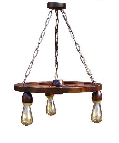 żyrandol lampa do salonu altany kuchni koło drewniane