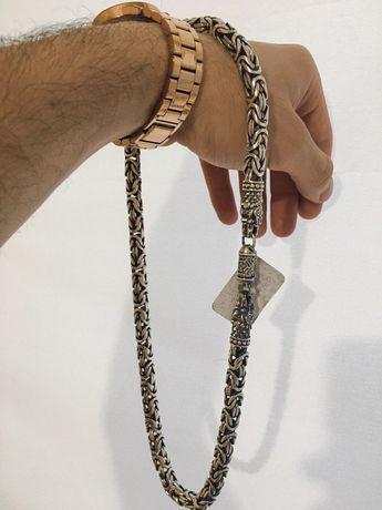 Łańcuch 925 próba splot Królewski Długość 58 cm Produkt nowy