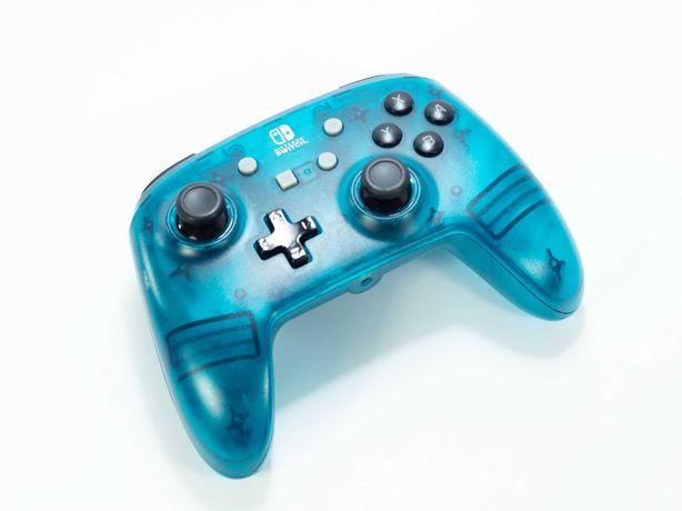 Niebieski pad kontroler POWERA Nintendo Switch PC micro usb