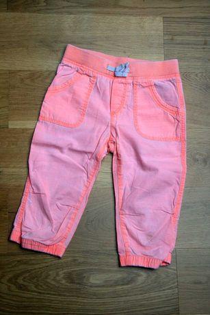 Krótkie spodnie 3/4 H&M HM L.O.G.G. pomarańczowe r. 110