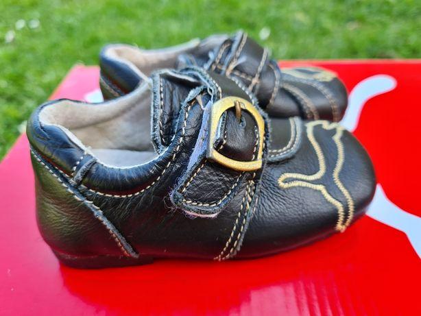 Skórzane buciki Puma - dl wkładki 8 cm