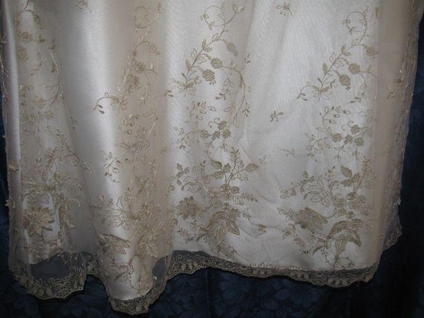 suknia ślubna w kolorze ecru, nowa