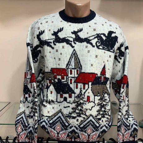 Мужской новогодний свитер Pulltonic(шерсть)