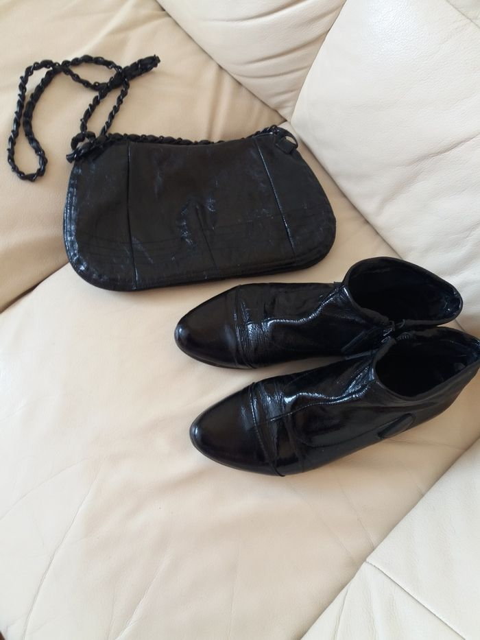 Чорний клатч( в комрлекті черевички 37р) Львов - изображение 1