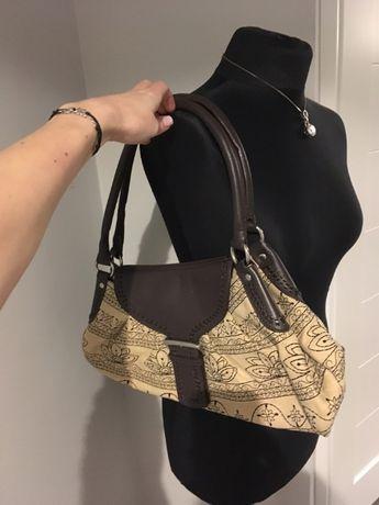 Monnari elegancka beżowa brązowa torebka jak nowa