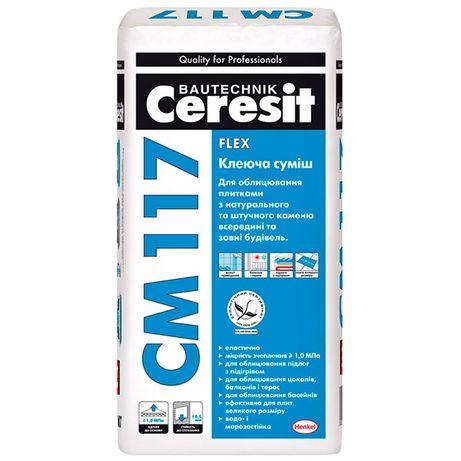 Клей для плитки (керамограніту) СМ 117 Ceresit
