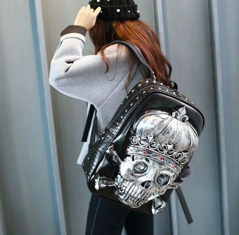 Стильный рюкзак - череп . Из экокожи ( США ) 3750 грн