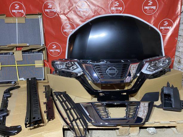 2017 Nissan Rogue Капот , фары , решотка , радиатор , усилитель