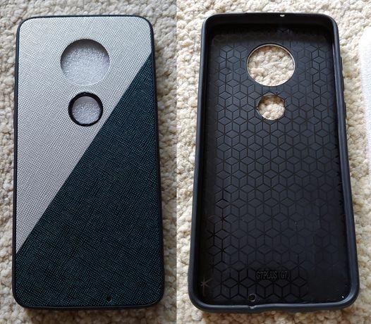 Nowe etui Motorola G7/G7 Plus - white/green - OKAZJA