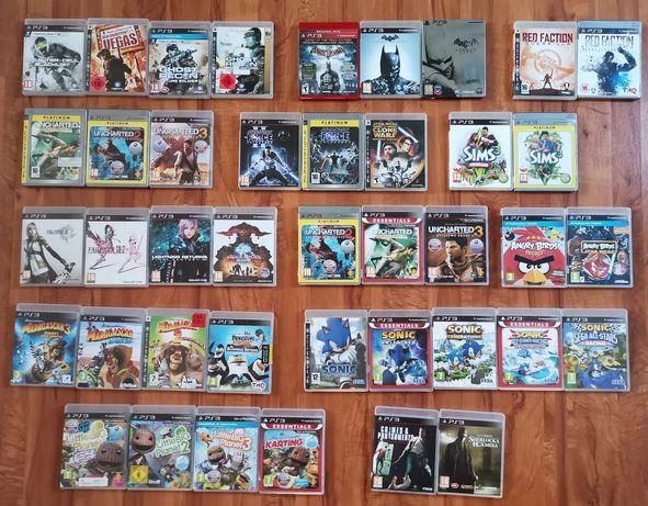 Dużo gier playstation 3 ps3 wysyłka zestaw komplet dla dzieci move gry