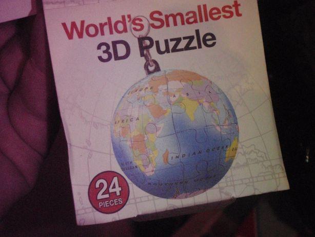 Puzzle 24 elem. - BRELOK - ZIEMIA w miniaturze - nowe