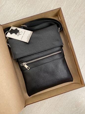 Продам мужскую кожаную сумку. Натуральная телячья Кожа
