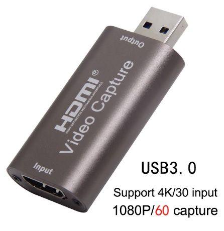 Placa de captura Video Streaming HDMI para USB 3.0 4K 1080p 60FPS NOVO