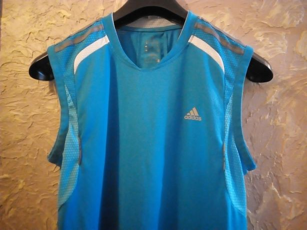 Koszulka termoaktywna męska t-shirt sportowa kompresyjna adidas M.