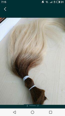 Омбре. Натуральные детские волосы для наращивания, славянка.
